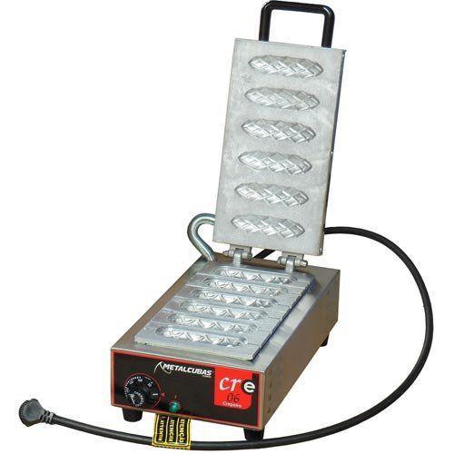 Crepeira Elétrica p/ Crepe Suíço 6 Cavidades Metalcubas CRE 06 127V  - ZIP Automação