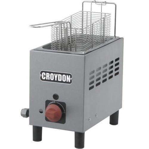 Fritadeira a Gás 1 Cuba Inox 3L Croydon F1AG  - ZIP Automação