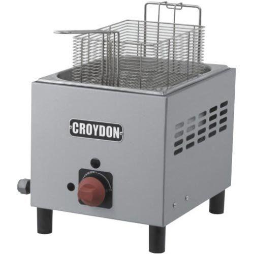 Fritadeira a Gás 1 Cuba Inox 4,5L Croydon F1BG  - ZIP Automação