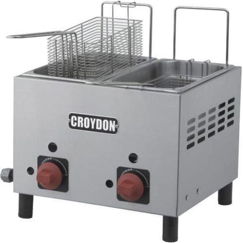 Fritadeira a Gás 2 Cubas Inox 2x3L Croydon F2AG  - ZIP Automação