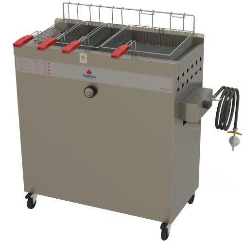 Fritadeira a Gás Água e Óleo 1 Cuba 30L Progás Fry Fritter Style PR-3000BPG  - ZIP Automação