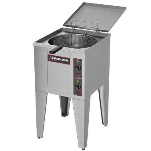Fritadeira Elétrica Água e Óleo 1 Cuba Inox 25L Metalcubas FAO 1 CR 220V  - ZIP Automação