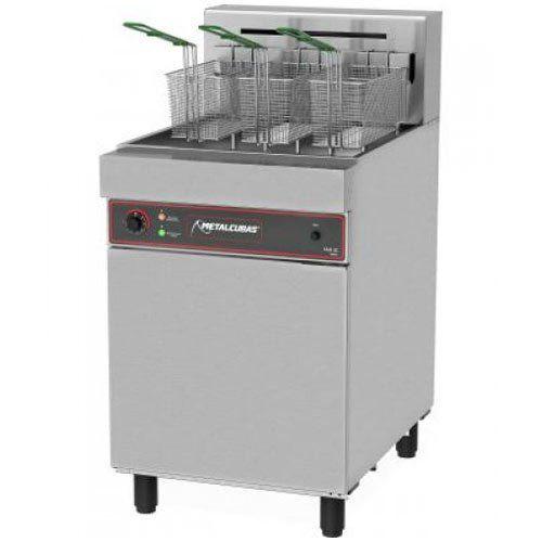 Fritadeira Elétrica Água e Óleo 1 Cuba Inox 38L Metalcubas FAO 3 C 220V Trifásico  - ZIP Automação