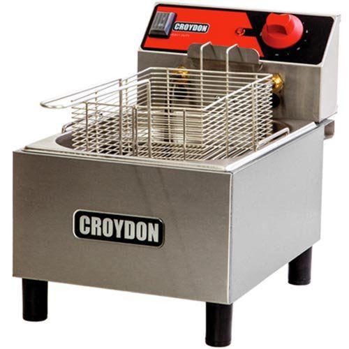 Fritadeira Elétrica 1 Cuba Inox 4,5L Croydon FC1B 220V  - ZIP Automação