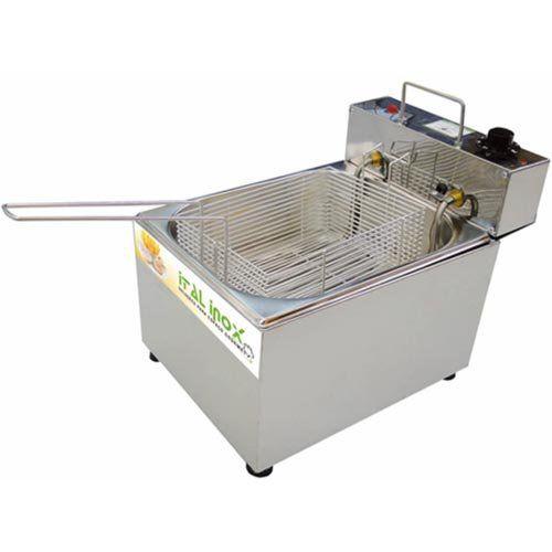 Fritadeira Elétrica 1 Cuba Inox 5L Ital Inox FEOI-5 127V  - ZIP Automação