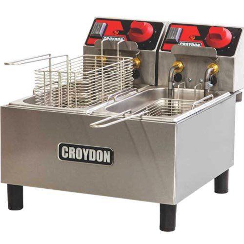 Fritadeira Elétrica 2 Cubas Inox 2x3L Croydon FC2A 220V  - ZIP Automação