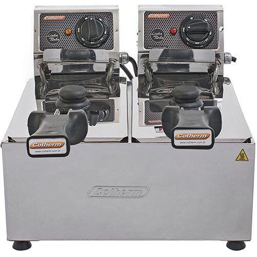 Fritadeira Elétrica 2 Cubas Inox 2x3L Cotherm Turbo 220V  - ZIP Automação