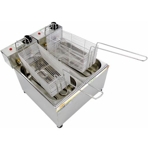 Fritadeira Elétrica 2 Cubas Inox 2x2L Ital Inox FEOI-4 127V  - ZIP Automação