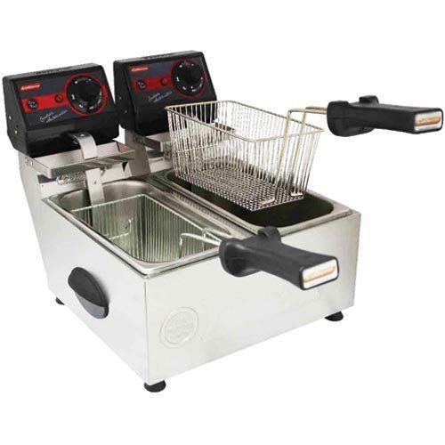 Fritadeira Elétrica 2 Cubas Inox 2x3L Cotherm Frita Fácil 127V  - ZIP Automação