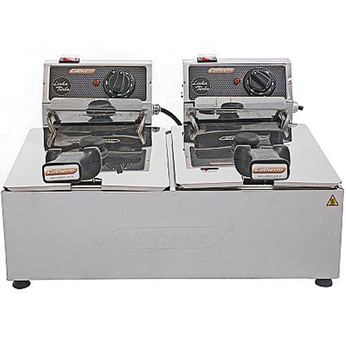 Fritadeira Elétrica 2 Cubas Inox 5L Cotherm Turbo 220V  - ZIP Automação