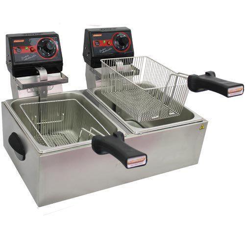 Fritadeira Elétrica 2 Cubas Inox 2x5L Cotherm Frita Fácil 127V  - ZIP Automação