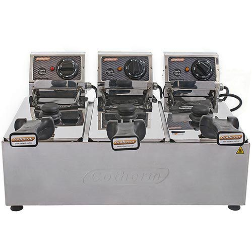 Fritadeira Elétrica 3 Cubas Inox 3L Cotherm Turbo 220V  - ZIP Automação