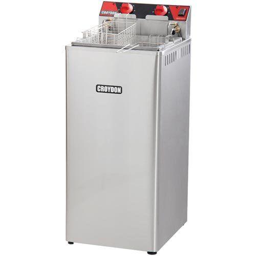 Fritadeira Elétrica Água e Óleo 1 Cuba Inox Croydon FA28 220V  - ZIP Automação