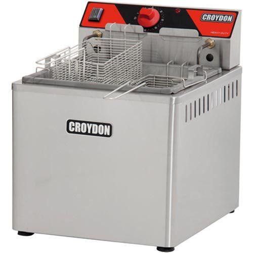 Fritadeira Elétrica Água e Óleo 1 Cuba Inox Croydon FAM5 220V  - ZIP Automação