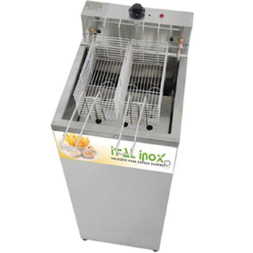 Fritadeira Elétrica Água e Óleo 1 Cuba Inox Ital Inox FAOCI-18 220V  - ZIP Automação