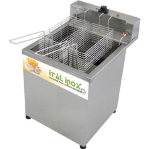 Fritadeira Elétrica Água e Óleo 1 Cuba Inox Ital Inox FAOCI-18M 220V  - ZIP Automação