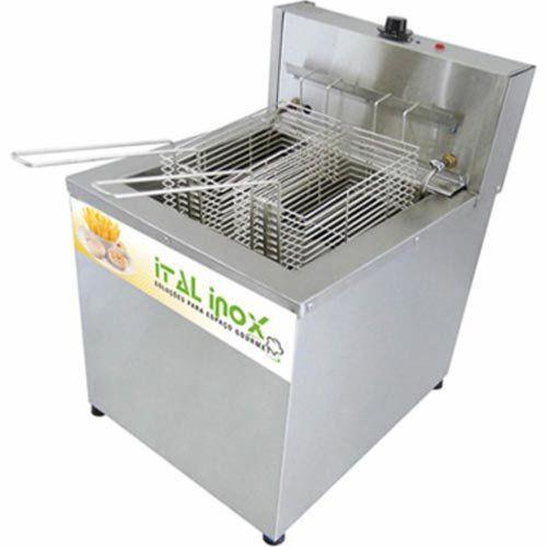 Fritadeira Elétrica Água e Óleo 1 Cuba Inox Ital Inox FAOI-18M 220V  - ZIP Automação