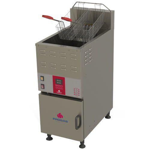 Fritadeira Elétrica Água e Óleo 1 Cuba Inox 45L Progás PRF-45E 220V  - ZIP Automação