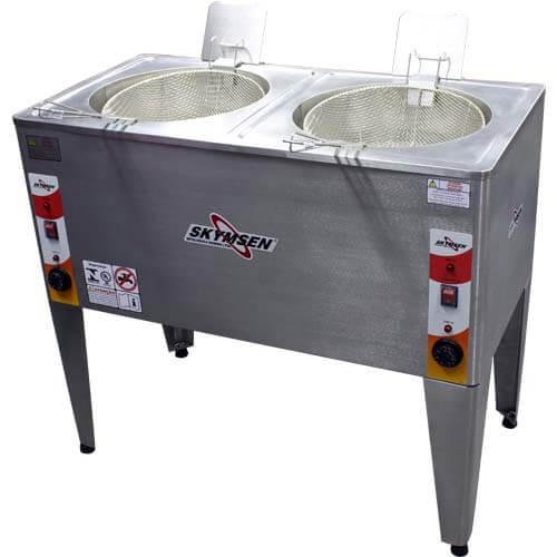 Fritadeira Elétrica Água e Óleo 2 Cubas 8000W FRP-24D - Skymsen  - ZIP Automação