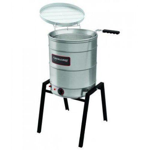 Fritadeira Elétrica Água e Óleo Inox 24L Metalcubas TFAO 40 CG 220V  - ZIP Automação