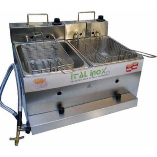 Fritadeira Flex (Elétrica e a Gás) 2 Cubas Inox 2x5L Ital Inox FOGEI-10 127V  - ZIP Automação