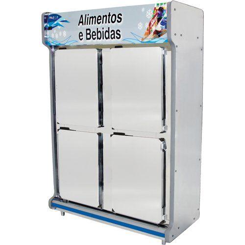 Geladeira Comercial 1,30m 4 Portas Inox - Polofrio  - ZIP Automação