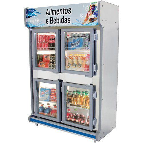Geladeira Comercial 1,30m 4 Portas Vidro - Polofrio  - ZIP Automação