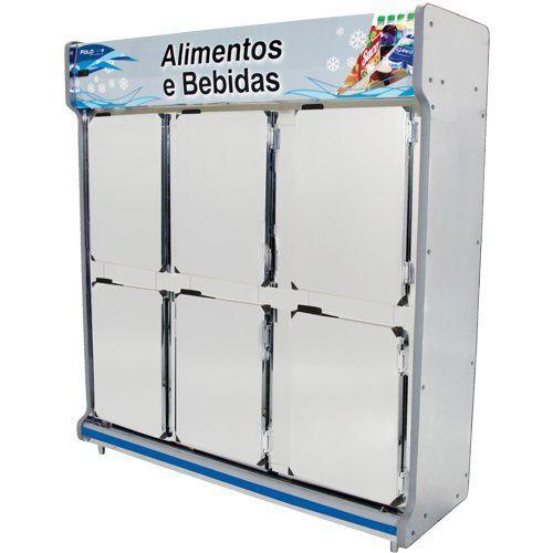 Geladeira Comercial 1,90m 6 Portas Inox - Polofrio  - ZIP Automação