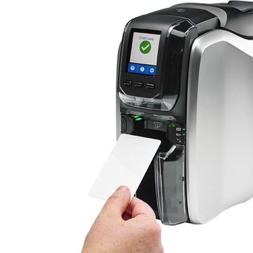 Impressora de Cartão PVC Frente e Verso Zebra ZC300  - ZIP Automação