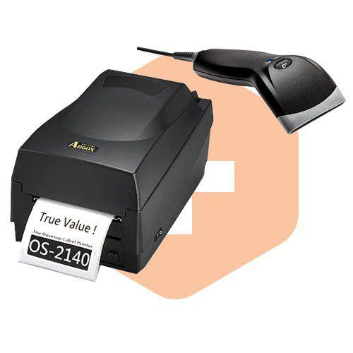 Kit Impressora OS-2140 Argox + Leitor BR-400 Bematech  - ZIP Automação