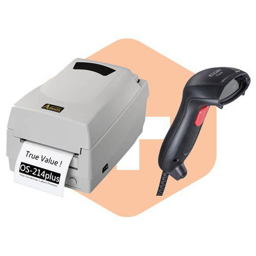 Kit Impressora OS-214 Plus Argox + Leitor Flash Elgin  - ZIP Automação