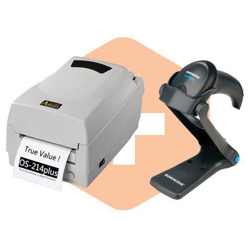 Kit Impressora OS-214 Plus Argox + Leitor QW2100 c/ Suporte Datalogic  - ZIP Automação
