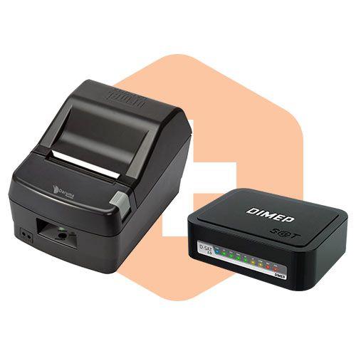 Kit SAT Fiscal D-SAT 2.0 Dimep + Impressora DR800 L Daruma  - ZIP Automação