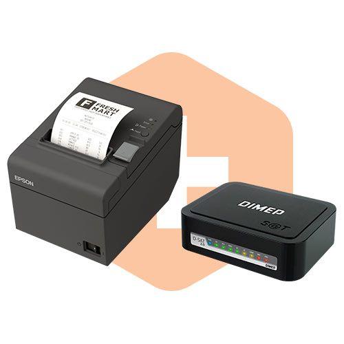 Kit SAT Fiscal D-SAT 2.0 Dimep + Impressora TM-T20 Epson  - ZIP Automação