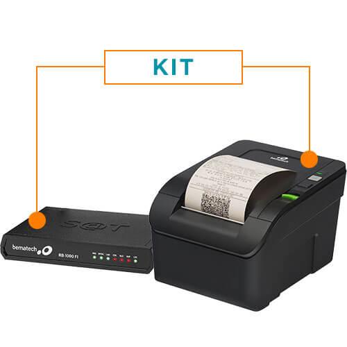 Kit SAT Fiscal RB-1000 FI + Impressora Não Fiscal Térmica MP-100S TH  - ZIP Automação