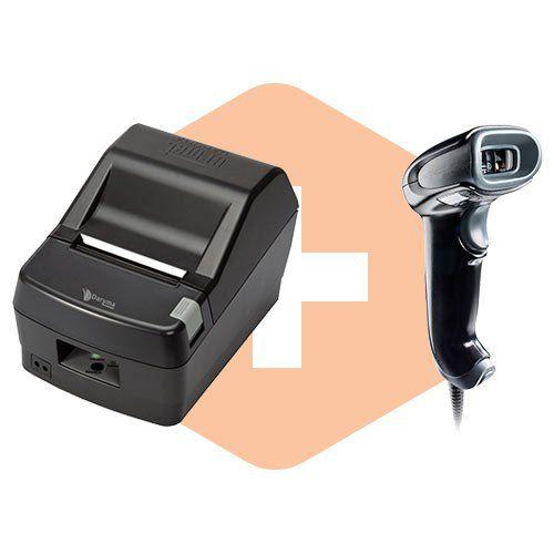 Leitor 1450g c/ Suporte Honeywell + Impressora DR800 L Daruma  - ZIP Automação