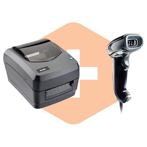 Leitor 1450g c/ Suporte Honeywell + Impressora L42 Elgin  - ZIP Automação