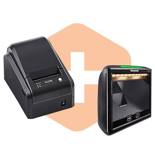 Leitor 7980g Honeywell + Impressora i7 Elgin  - ZIP Automação