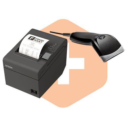 Kit Impressora TM-T20 Epson + Leitor BR-400 Bematech  - ZIP Automação