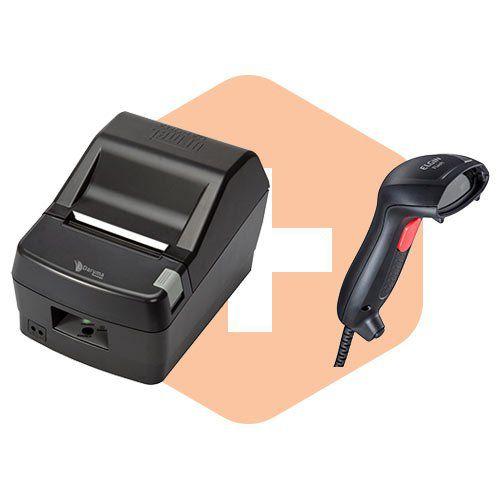 Kit Leitor Flash Elgin + Impressora DR800 L Daruma  - ZIP Automação