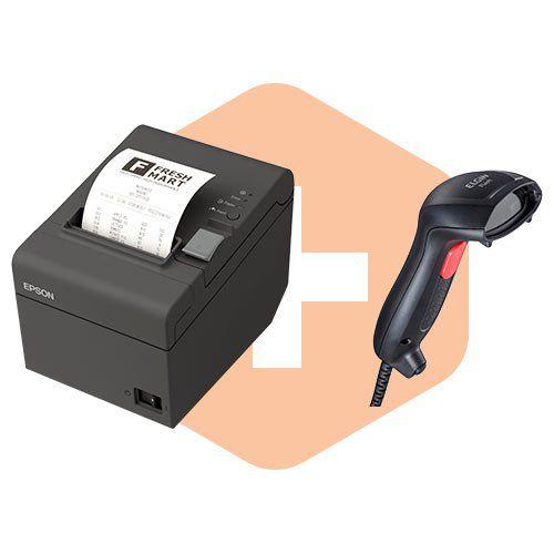 Kit Impressora TM-T20 Epson + Leitor Flash Elgin  - ZIP Automação