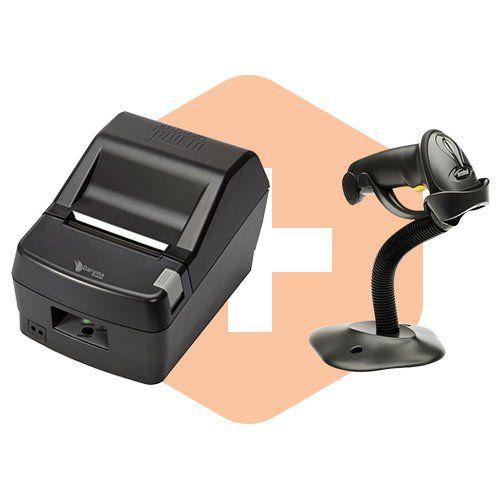 Leitor LS2208 c/ Suporte Zebra + Impressora DR800 L Daruma  - ZIP Automação