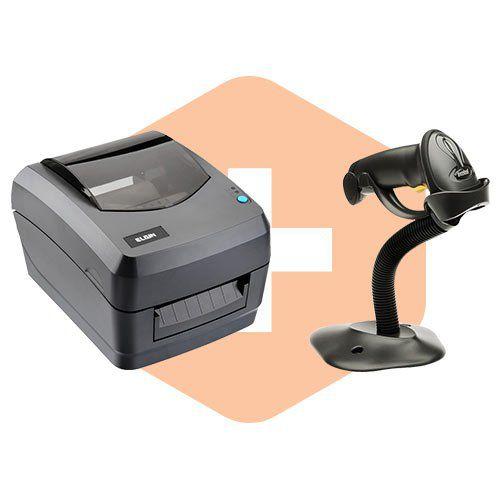 Leitor LS2208 c/ Suporte Zebra + Impressora L42 Elgin  - ZIP Automação