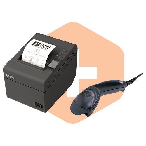 Leitor MS5145 Honeywell + Impressora TM-T20 Epson  - ZIP Automação