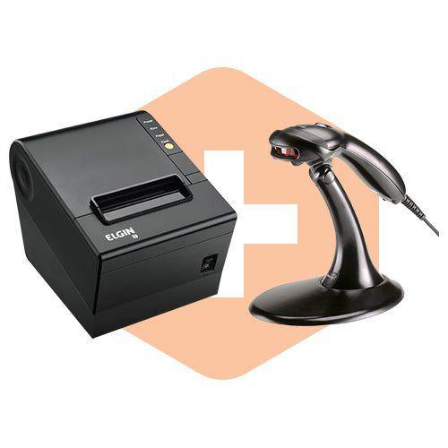 Leitor MS9520 c/ Suporte Honeywell + Impressora i9 Elgin  - ZIP Automação