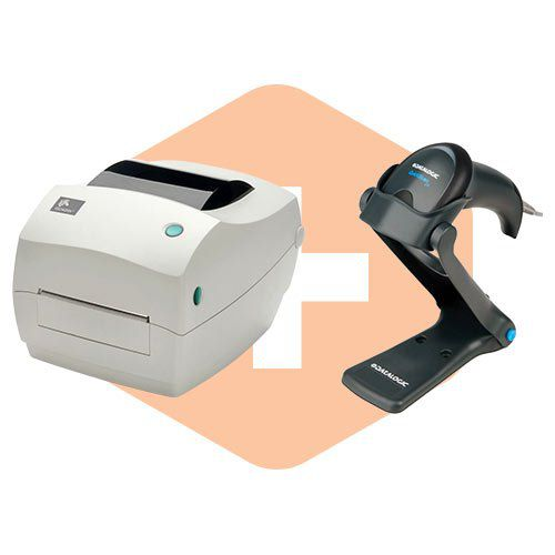 Kit Impressora GC420t Zebra + Kit Leitor QW2100 c/ Suporte Datalogic  - ZIP Automação