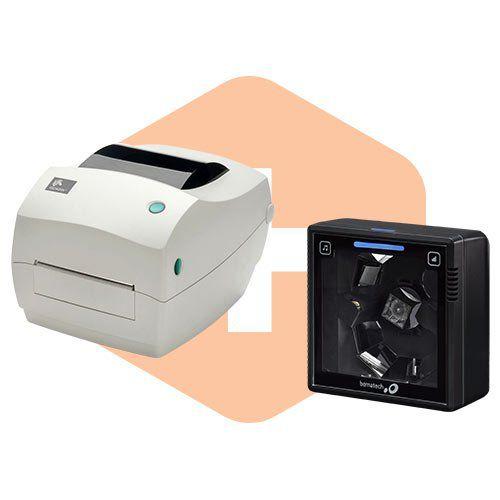 Leitor S-3200 Bematech + Impressora GC420t Zebra  - ZIP Automação