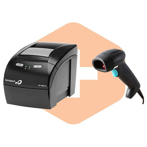 Leitor ZL2200 Honeywell + Impressora MP-4200 TH Bematech  - ZIP Automação