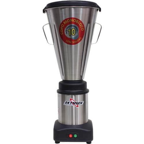 Liquidificador Inox 10L Copo Monobloco Skymsen LS-10MB-N 127V  - ZIP Automação