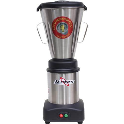 Liquidificador Inox 4L Copo Monobloco Skymsen LS-04MB-N 127V  - ZIP Automação